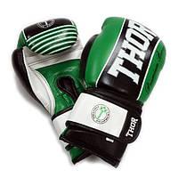 Перчатки боксерские THOR THUNDER 14oz /Кожа /зеленые, фото 1