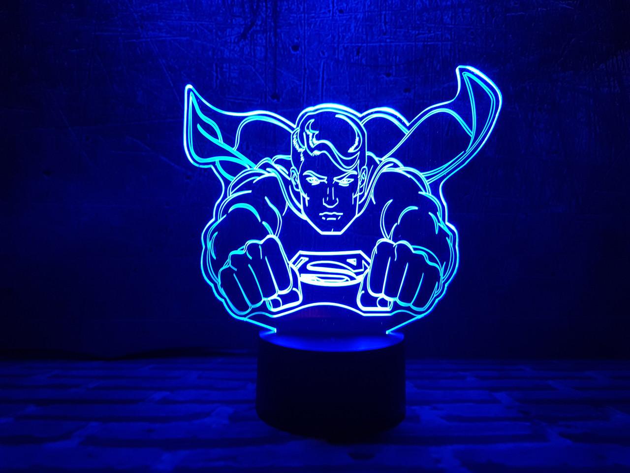 """Змінна пластина для 3D каганця """"Супермен"""""""