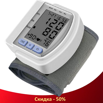 Тонометр автоматичний CK-102S - цифровий тонометр на зап'ястя, апарат для вимірювання тиску, автотонометр, фото 2