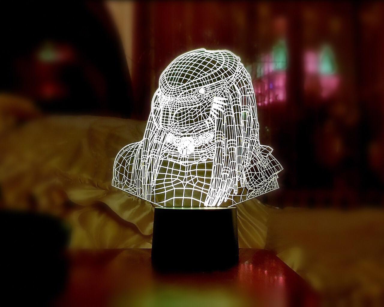 """3D світильник """"Хижак"""""""