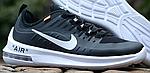 Мужские кроссовки Nike Air Max Axis (черно-белые) 340TP весенние спортивные кроссы для бега, фото 7