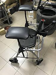 Ролеры ходунки на колесах під ліктьові для людей з обмеженими можливостями з сидінням