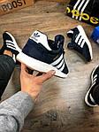 Мужские кроссовки Adidas iniki Runner (сине-белые) 108PL весенние спортивные повседневные кроссы, фото 5