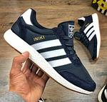 Мужские кроссовки Adidas iniki Runner (сине-белые) 108PL весенние спортивные повседневные кроссы, фото 6