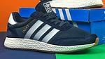 Мужские кроссовки Adidas iniki Runner (сине-белые) 108PL весенние спортивные повседневные кроссы, фото 7