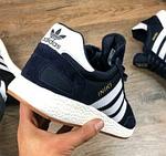 Мужские кроссовки Adidas iniki Runner (сине-белые) 108PL весенние спортивные повседневные кроссы, фото 8