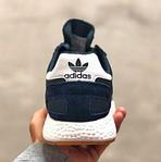 Мужские кроссовки Adidas iniki Runner (сине-белые) 108PL весенние спортивные повседневные кроссы, фото 10