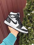 Чоловічі демісезонні кросівки Nike Air Jordan (чорно-білі) повсякденне взуття 10170, фото 3