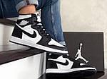 Чоловічі демісезонні кросівки Nike Air Jordan (чорно-білі) повсякденне взуття 10170, фото 6