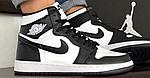 Чоловічі демісезонні кросівки Nike Air Jordan (чорно-білі) повсякденне взуття 10170, фото 7