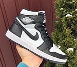 Чоловічі демісезонні кросівки Nike Air Jordan (чорно-білі) повсякденне взуття 10170, фото 8