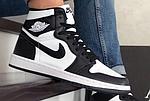 Чоловічі демісезонні кросівки Nike Air Jordan (чорно-білі) повсякденне взуття 10170, фото 9