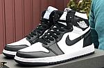 Чоловічі демісезонні кросівки Nike Air Jordan (чорно-білі) повсякденне взуття 10170, фото 10