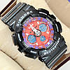 Яркие спортивные наручные часы G-Shock GA-120 Black-Purple-Red 1006-0214