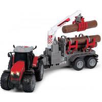 Спецтехника Dickie Toys Трактор Массей Фергюсон 8737 с прицепом для древесины со све (3737003)