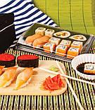 Пластиковая упаковка для суши со скошенной крышкой, фото 3