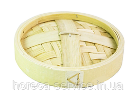 Крышка для парового лукошка бамбук 16 см.