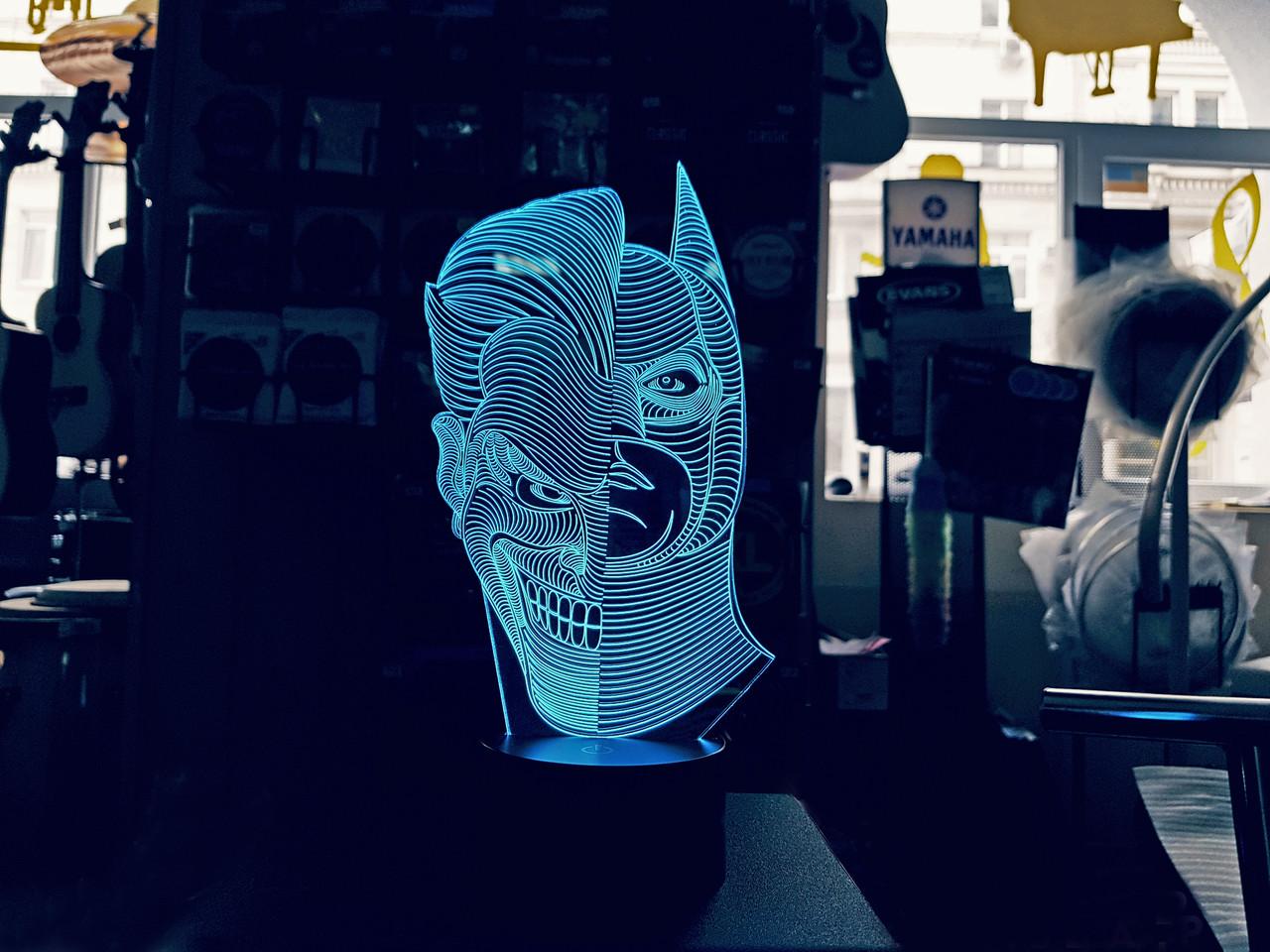 """Детский ночник - светильник """"Джокер/Бетмен"""""""