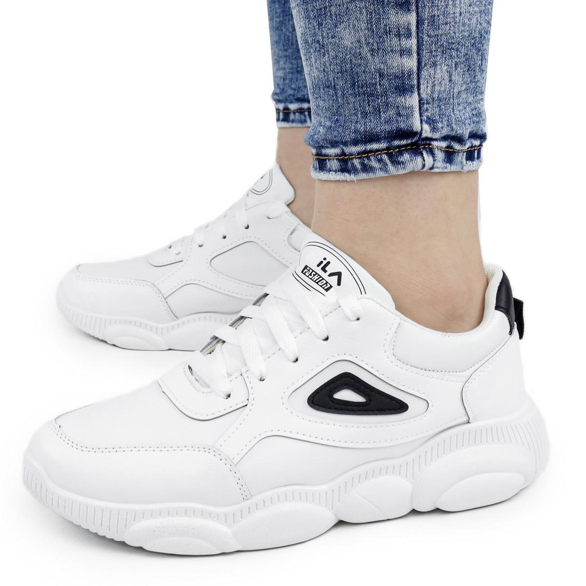 Женские кроссовки Dual ILA Fashion белые весна-осень 38 р. - 24,5 см (1341603274)