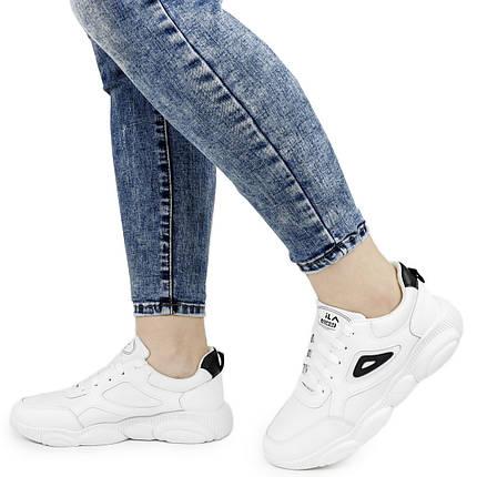 Женские кроссовки Dual ILA Fashion белые весна-осень 38 р. - 24,5 см (1341603274), фото 2