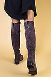 Замшевые зимние ботфорты цвета капучино, фото 4