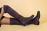 Замшевые зимние ботфорты цвета капучино, фото 5