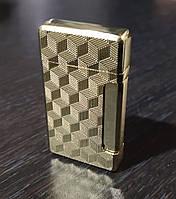 Запальничка подарункова Турбо газова металева Золото