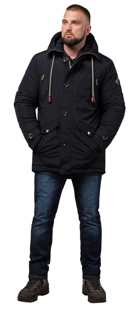 Парку чорна чоловіча на зиму модель 45950 розмір 46 (S)