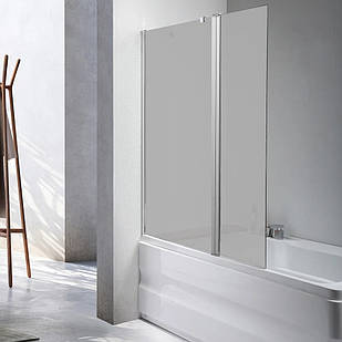 Стеклянная шторка для ванны AVKO Glass 542-1 40+60x140 перегородка для ванной Матовое