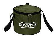 Ведро для прикормки с крышкой Novator VD-2 (30x23 см), фото 1