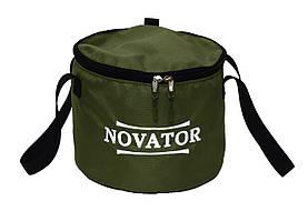 Ведро для прикормки с крышкой Novator VD-2 (30x23 см)