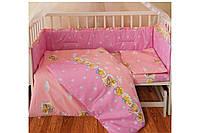 Детский комплект ТЕП Мишка розовый 2-00883-20950 бязь 110х140 см