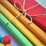 Набор ткани для рукоделия 4шт. салатовый,желтый,оранжевый,апельсиновый, фото 2