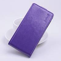 Чехол флип для Doogee X5 фиолетовый