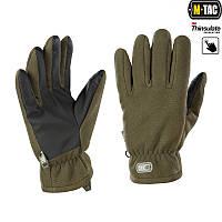 Рукавички M-Tac Fleece Thinsulate L оливковий (90309001-L)