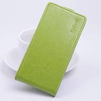 Чехол флип для Doogee X5 зелёный, фото 1