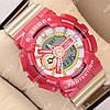 Стильные спортивные наручные часы G-Shock GA-110 Gold-Red 1006-0216