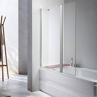 Стеклянная шторка для ванны AVKO Glass 542-1 40+80x140 перегородка для ванной