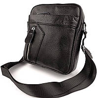 Мужская сумка через плечо из натуральной кожи Tiding Bag N2-9 черная