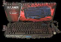 Клавиатура проводная ATLANFA AT-M200P USB, игровая, с подсветкой