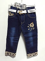 Модные джинсы на девочку на флисе р.7,9,13,15 (1,2,4,5 лет примерно)