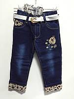 Модные джинсы на девочку на флисе р.7, 9 ( 2/3, 3/4 г), фото 1