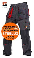 Штани робочі захисні SteelUZ з червоними вставками, модель 2019, зріст 170-180см