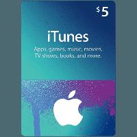 Подарочная карта iTunes Apple / App Store Gift Card на сумму 5 usd, US-регион