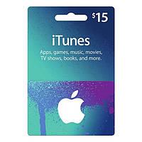 Подарочная карта iTunes Apple / App Store Gift Card на сумму 15 usd, US-регион