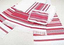 Рушники свадебные, комплект с 5штук в Красных тонах