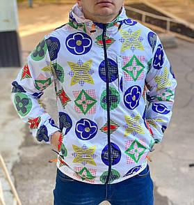 Мужская ветровка куртка с капюшоном на молнии, LV
