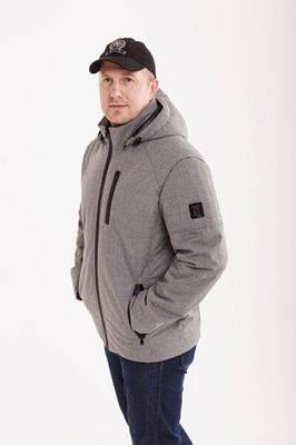 Демисезонная мужская куртка от производителя   48-52 серый