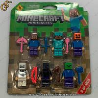 """Набор фигурок Майнкрафт - """"Minecraft Figures"""" - 6 шт"""