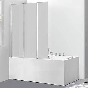Стеклянная шторка для ванны AVKO Glass 542-3 120х140 см перегородка для ванной Матовое